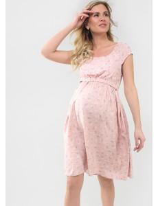 """Платье """"Павлина"""" для беременных и кормящих; цвет: пудра/цветы"""