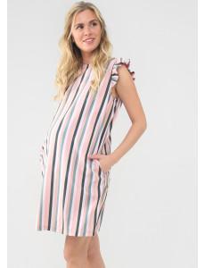 """Платье """"Чемберли"""" для беременных цвет цветная полоска"""