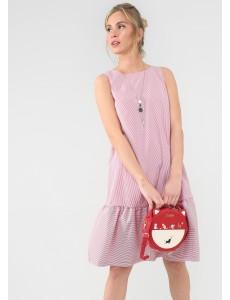 """Платье """"Элен"""" для беременных и кормящих; цвет: красная полоска"""
