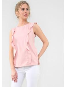 """Блуза """"Мелоди"""" для кормящих; цвет: пудровый"""