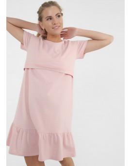 """Платье """"Калифорния"""" для беременных и кормящих; цвет: пудровый"""