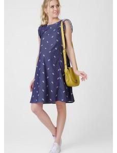 """Платье """"Морлей"""" для беременных и кормящих; цвет: деним/принт"""