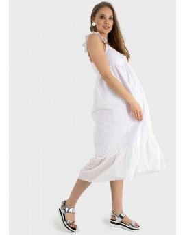 """Платье """"Мирослава"""" для беременных; цвет: белый/шитье"""