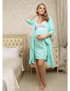 """Комплект для роддома """"Мелинда"""" для беременных и кормящих; цвет: ментол"""