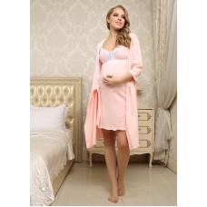 """Комплект для роддома """"Мелинда"""" для беременных и кормящих; цвет: персик"""