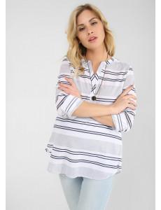 """Блуза """"Эльза"""" для беременных и кормящих цвет сине-белая полоска"""