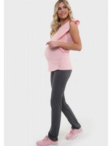 """Костюм """"Арабелла"""" для беременных и кормящих цвет антрацит/пудровый"""
