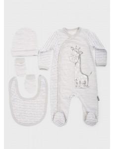 """Набор для новорожденного """"Жирафик"""" 4 предмета 0-3м"""
