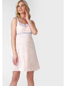 """Ночная сорочка """"Авалора"""" для беременных и кормящих цвет пудровый"""