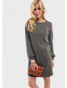 """Платье """"Кортни"""" для беременных и кормящих цвет т. серый"""