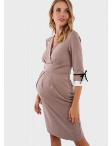 """Платье """"Ники"""" для беременных и кормящих цвет какао"""