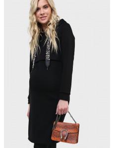 """Платье утепл. """"Минори"""" для беременных и кормящих цвет черный"""