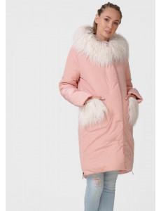 """Куртка зимн. 2в1 """"Портофино"""" для беременных; цвет: пудра"""