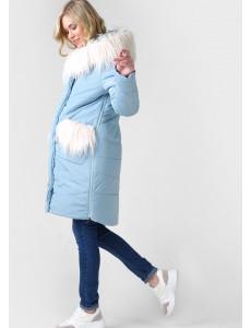 """Куртка зимн. 2в1 """"Портофино"""" для беременных; цвет: селадон"""