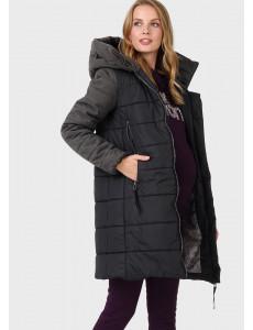 """Куртка зимн. 3в1 """"Бристоль"""" для беременных и слингоношения; цвет: черный"""