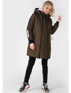 """Куртка зимн. 3в1 """"Копенгаген"""" для беременных и слингоношения; цвет: хаки"""