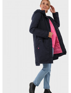 """Куртка зимн. 3в1 """"Мехико"""" для беременных и слингоношения; цвет: синий"""