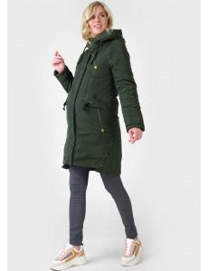 """Куртка зимн. 3в1 """"Мехико"""" для беременных и слингоношения; цвет: хаки"""
