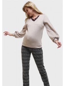 """Джемпер """"Сири"""" для беременных и кормящих, цвет: бежевый"""