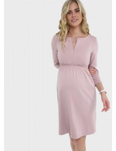 """Платье """"Алиша"""" для беременных и кормящих, цвет: пудра"""