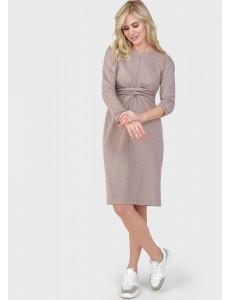 """Платье """"Ария"""" для беременных и кормящих, цвет: пудровый"""
