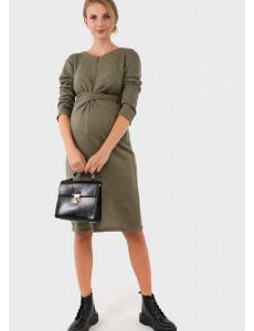 """Платье """"Ария"""" для беременных и кормящих, цвет: хаки"""
