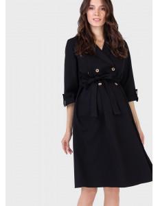 """Платье """"Валентина"""" для беременных и кормящих, цвет: черный"""