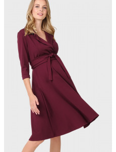 """Платье """"Валери"""" для беременных и кормящих, цвет: марсала"""