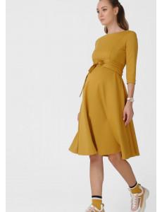 """Платье """"Талия"""" для беременных и кормящих, цвет: горчица"""