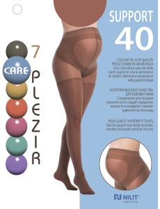 Колготки для беременных Support 40 den, цвет: загар