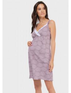 """Ночная сорочка """"Шейла"""" для беременных и кормящих, цвет: кофейные розы"""