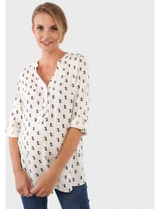 """Блузка """"Девика"""" для беременных и кормящих; цвет: принт/котики"""