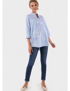 """Блузка """"Жасмин"""" для беременных и кормящих; цвет: голубой"""