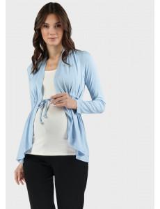 """Блузка """"Лира"""" для беременных и кормящих; цвет: голубой"""