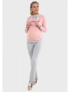 """Костюм """"Маркус"""" для беременных и кормящих; цвет: меланж/пудровый"""