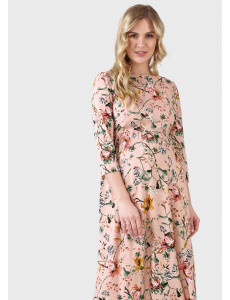 """Платье """"Лесоль"""" для беременных и кормящих; цвет: пудровый"""