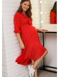 """Платье """"Николь"""" для беременных и кормящих; цвет: красный"""