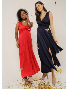 """Платье """"Омела"""" для беременных и кормящих; цвет: синий"""