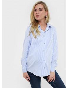 """Рубашка """"Арина"""" для беременных и кормящих; цвет: голубой"""
