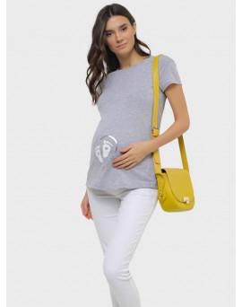 "Футболка ""Руби"" для беременных; цвет: серый"