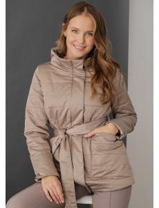 """Куртка демис. 2в1 """"Корсика"""" для беременных; цвет: миндальный"""