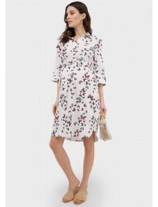 """Платье """"Донна"""" для беременных и кормящих; цвет: белый"""