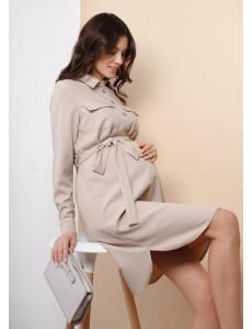 """Платье """"Дэйна"""" для беременных и кормящих; цвет: бежевый"""
