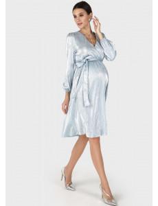 """Платье """"Монро"""" для беременных и кормящих; цвет: голубой"""