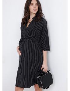 """Платье """"Мэйбл"""" для беременных и кормящих; цвет: черный"""