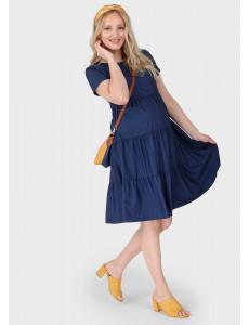 """Платье """"Ребекка"""" для беременных; цвет: синий"""