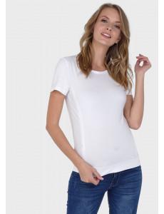 """Футболка """"Милли"""" для беременных и кормящих; цвет: белый"""