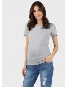 """Футболка """"Милли"""" для беременных и кормящих; цвет: серый меланж"""