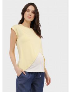 """Футболка """"Хельга"""" для беременных и кормящих; цвет: желтый"""