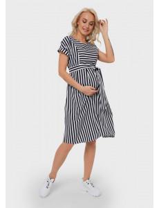 """Платье """"Валерия"""" для беременных и кормящих; цвет: синий"""